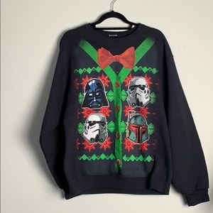 Star Wats Christmas Sweater L